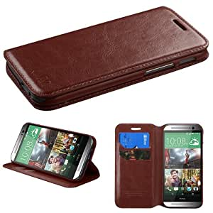 MYBAT Brown MyJacket Wallet(with Tray)(562) (with Package) for HTC One M8