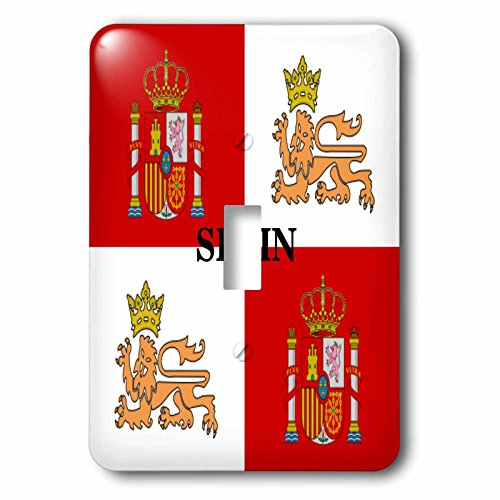 3dRose LLC lsp_60506_1 Historic Flag Of Spains Royal Navy Single Toggle Switch by 3dRose