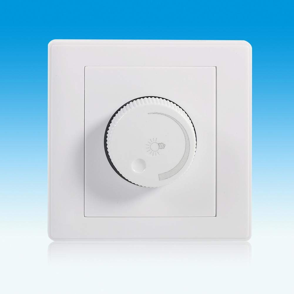 Dimmer Light Switch Pr/áctico Inicio Montado En La Pared Perilla Giratoria L/ámpara Brillo Panel De Control Dimmer Switch