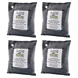 Moso Natural Air Purifying Bag. Odor Eliminator for Cars, Closets, Bathrooms and Pet Areas. 200-G,4 Pack
