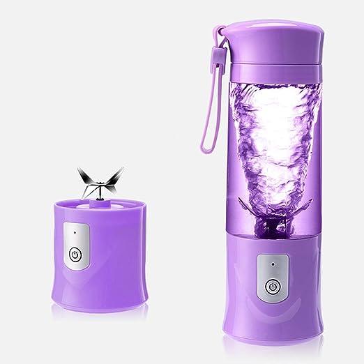 Chengxin Exprimidor Zumo de Naranjas Mini licuadora portátil Pequeño hogar eléctrico Extractor de Jugo de Fruta de 420 ml Copa y Mezclador con Carga USB for Exteriores Licuadoras y exprimidores: Amazon.es
