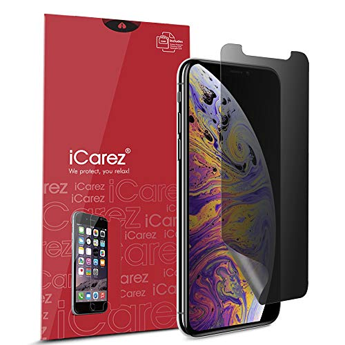 iCarez [Full Coverage 4 Way Privacy] 360 Degree Film Screen Protector for Apple iPhone Xs Max 6.5-Inch 2018 (Case Friendly) Easy Installation [1-Pack]