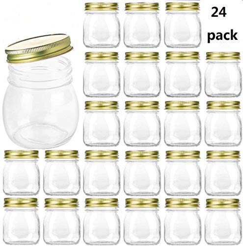 ars With Lids,Ball Wide Mouth Mason Jars For Storage,Canning Jars For Caviar,Herb,Jelly,Jams,Honey,Dishware Safe,Set Of 24 ()