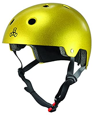 Triple Eight Certified Helmet, Gold Flake, X-Small/Small from Triple Eight