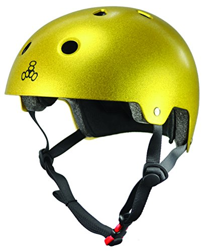da Metallico dorato ciclismo Triple Brainsaver 8 Casco xUqxESn