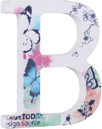 Fiori Bianchi 11 Lettere.Dyhm Lettera Decorativa Lettere Numeri Lettere L Reticolo Di Legno