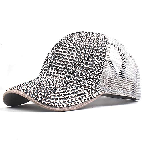 Womens Messy Bun Ponytail Hat Mesh Outdoor Trucker Hat Steampunk School Girl Snapback Baseball Cap Sun Hat
