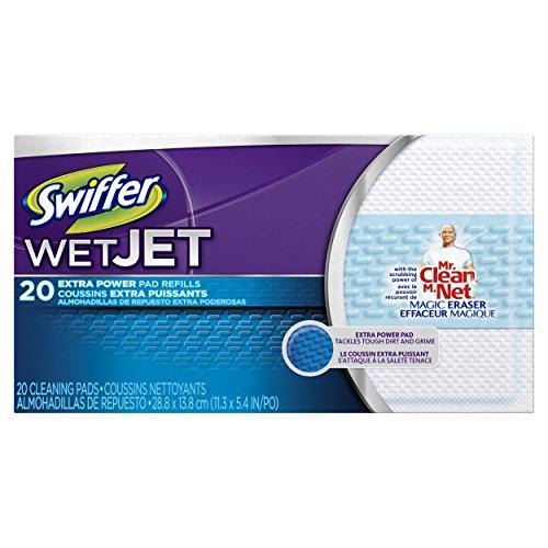 Swiffer Wetjet колодки с силой Mr. Clean Волшебный ластик 20 графа
