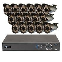 16 HD 1080P Varifocal 2.8-12mm Security Bullet IR 200ft Night Vision HD Kit for Business Professional Grade