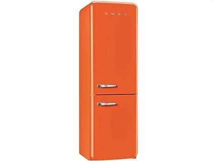 Smeg Kühlschrank Gefrierkombi : Smeg kühl gefrierkombination fab ron orange rechtsanschlag a