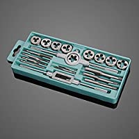 Pink Lizard 20pcs M3-M12 Screw Thread Metric Plugs Taps Tap wrench Die Wrench Set by Pink Lizard Products