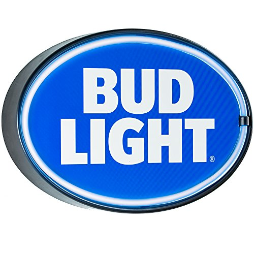 Officially Licensed Bud Light Oval Shaped LED Sign, New Improved Now with 6' Wall Plug Cord! LED Light Rope That Looks Like Neon, Wall Decor for Bar, Garage, or Man Cave ()