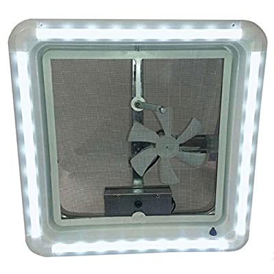 Heng's HG-LR-C-CW-AFT LED Vent Trim with Clear Lens - Cool White Light