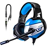 PS4 Gaming Headset, TUSBIKO Noise Cancelling Gaming Headphones with Microphone, LED Lights, Bass Surround Sound Over Ear Wired Headset for Xbox One, PC, Laptop, iPad, Mac, Nintendo Switch Games Review