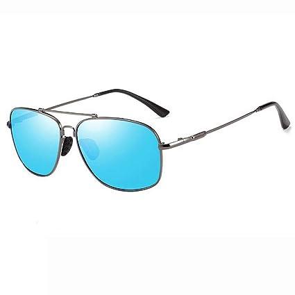 Chlyuan - Gafas de Sol de Montura Redonda para Hombre y ...
