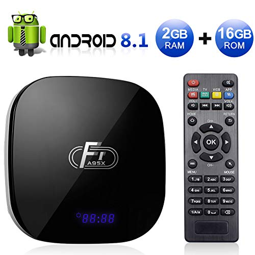 Sidiwen Android 8.1 TV Box F1 2GB RAM 16GB ROM Amlogic S905W Quad-Core Cortex-A53 CPU 2.4G WiFi Ethernet Support 3D 4K H.265 Smart Media Player