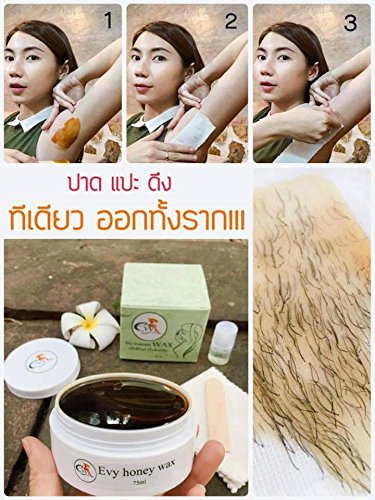 Evy Honey Wax Set Waxing Armpit Underarm Whitening Skin 80g by Thai Premium