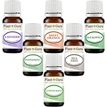 Essential Oil Variety Set Kit Top 6 Pack - 100% Pure Therapeutic Grade Oils 10 ml. Includes Peppermint, Lavender, Sweet Orange, Lemongrass, Eucalyptus & Tea Tree
