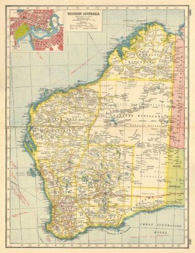 Perth Western Australia Map.Amazon Com Western Australia Inset Plan Of Perth