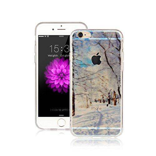 Per Apple iPhone 6 / iPhone 6S (4.7 Pollici) Custodia ZeWoo® Custodie in TPU silicone Case Cover - AK020 / mondo di neve