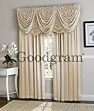 Ultra Luxurious Complete Hyatt Window Curtain & Fringed Valance Treatments Set by GoodGram - Assorted Colors (Beige)