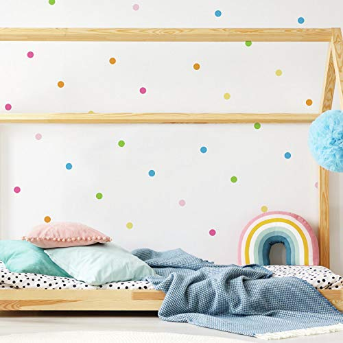 Repositionable Pastel - RoomMates Pastel Dot Peel And Stick Wall Decals