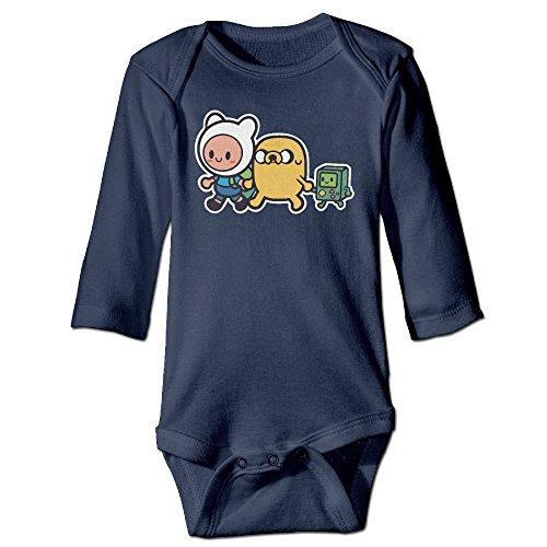 Infant Adventure Time Family Unisex Baby Onesie Bodysuit Long-sleeve Navy 18 -