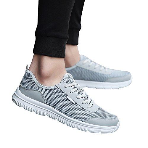 Hombres nbsp; Cómodo De Gris Zapatos Lace Par Casuales Up Mesh Zapatillas ALIKEEYTranspirable Zapatos qEnYFF