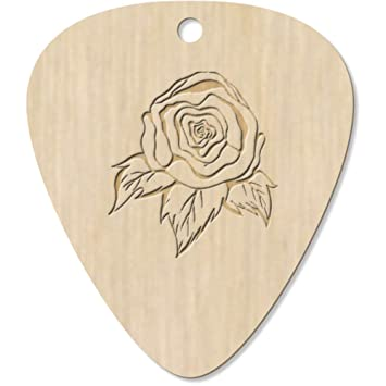Azeeda 7 x Rose Romántica Guitarra Púa (GP00005900): Amazon.es ...