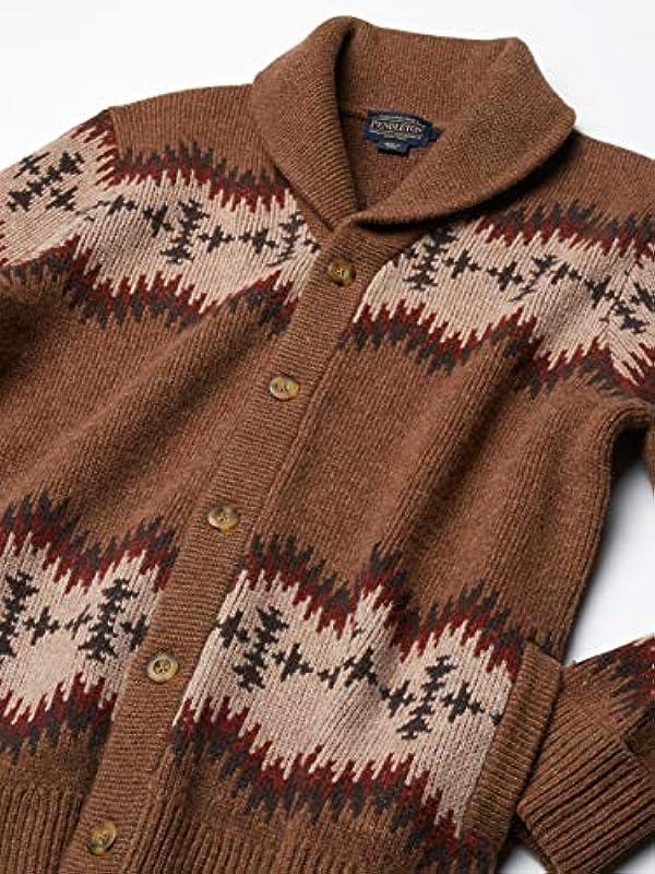 Pendleton Męskie Sonora Cardigan Sweater Cardiganpullover: Odzież