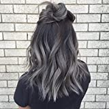 Ugeat 18inch Dip Dyed Tape in Hair Black Color Mixed with Sliver Seamless Tape in 100% Real Human Hair Extensions 20pcs 50Gram Review