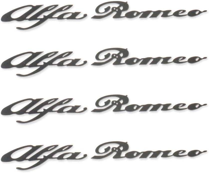 Alfa Romeo HI - Temp CAST Vinyl Brake Caliper Decals Stickers Car Logo Emblem Badge Sticker for Mito 147 156 159 166 Silver