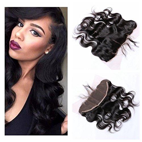 "Derun Hair Beauty Closure Size 13""x4"" Natural Black Color 8"