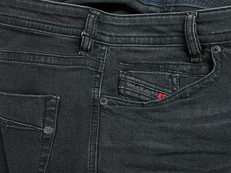 Diesel męskie dżinsy Regular Slim Akee Washed Out Black - 31W / 32L: Odzież