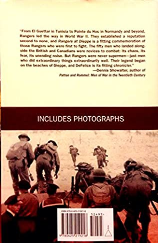 book cover of Rangers at Dieppe