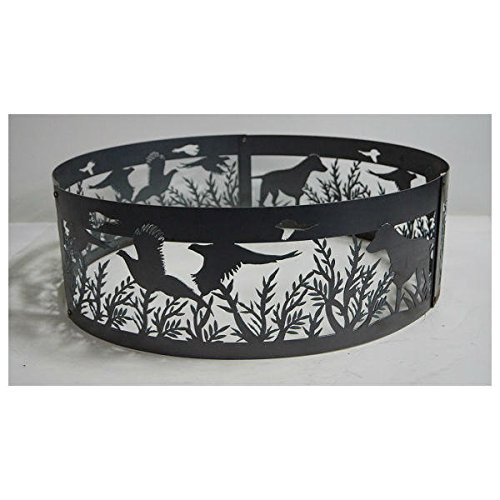 - PD Metals Steel Campfire Fire Ring Dog N' Pheasants Design - Unpainted - Large 48 d x 12 h Plus Free eGuide