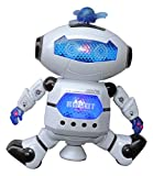 MazaaShop Digital Dancing Warrior Robot Toy Figure with Colorful Rotating Lights, Music, Dancing Action, 360 Spins
