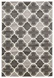 Linon Claremont Collection Quatrefoil Synthetic Rugs, 5′ x7′, Gray Review