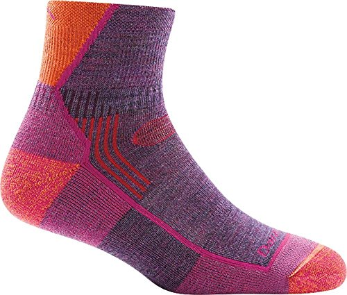 Darn Tough Hiker 1/4 Cushion Sock - Women's Plum Heather Medium ()