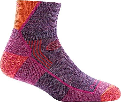 Darn Tough Hiker 1/4 Cushion Sock - Women's Plum Heather Large