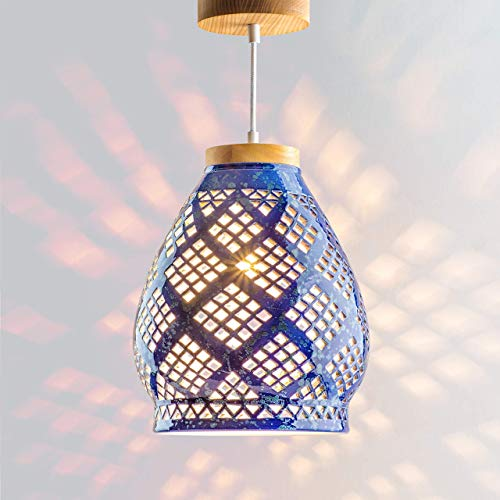 Ceramic pendant lighting Cobalt blue kitchen ceiling light