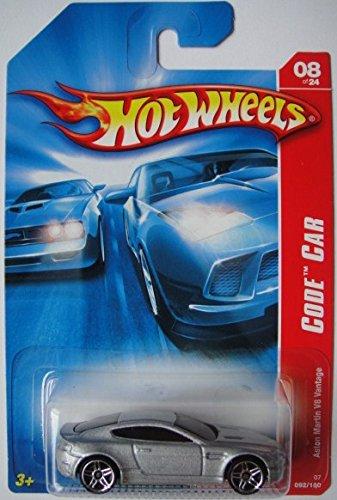 HOT WHEELS ASTON MARTIN V8 VANTAGE CODE CAR 92/180 SILVER Aston Martin V8 Cars