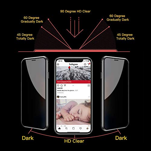 TraCa Magnetic Case for iPhone 11, Anti Peeping Magnetic Privacy Adsorption with Clear Double Sided Tempered Glass 360 Full Protective Compatible with Apple iPhone 11 Black
