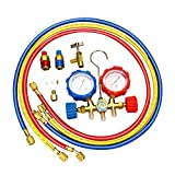 Mofeez Pro AC A/C Diagnostic Manifold Freon Gauge