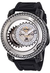 Ritmo Mundo Men's D202/9 SS BLK Diamond Persepolis Dual-Time Orbital Case Automatic Watch