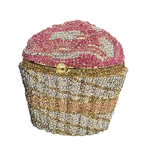Cupcake Crystal Clutch Evening Clutches Bags Wedding Party Bridal Diamond Minaudiere Handbag Purse