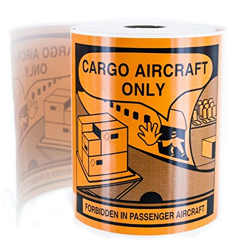 Label Cargo - Cargo Aircraft Only Warning Labels for Lithium Battery Transport LV-SL11