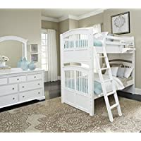 NE Kids Walnut Street Hayden Bunk Bed, White, Twin/Twin