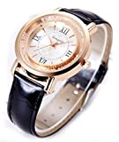 Fashion Womens Quartz Wrist Watches with Leather Band