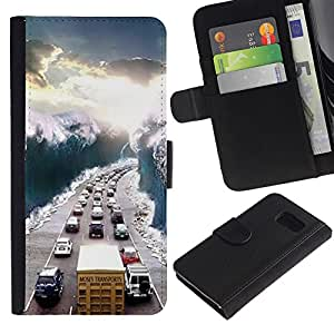 All Phone Most Case / Oferta Especial Cáscara Funda de cuero Monedero Cubierta de proteccion Caso / Wallet Case for Sony Xperia Z3 Compact // View Sunshine Traffic Jam Wave